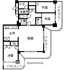 ストークマンション鹿児島[5階]の間取り