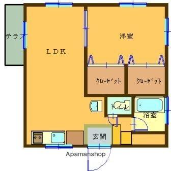 ファミールM[4階]の間取り