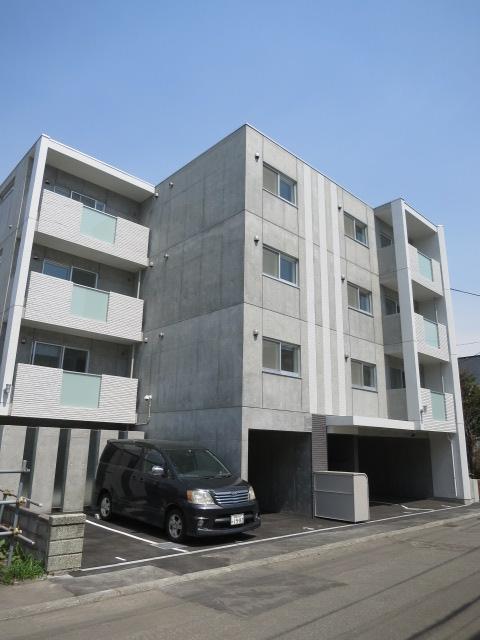 北海道札幌市中央区、西線9条旭山公園通駅徒歩13分の新築 4階建の賃貸マンション