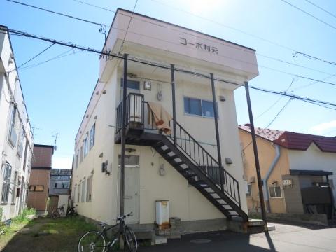 北海道札幌市西区、発寒駅徒歩17分の築34年 2階建の賃貸アパート