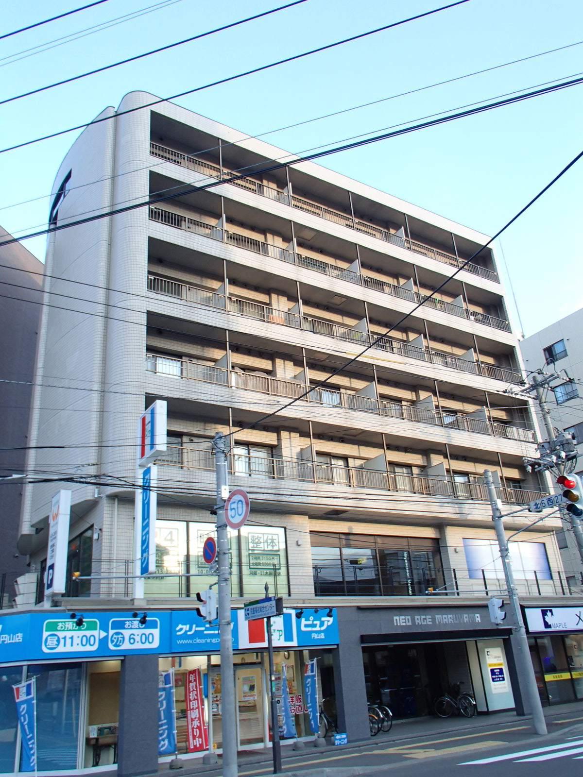 北海道札幌市中央区、二十四軒駅徒歩11分の築30年 7階建の賃貸マンション