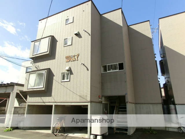 北海道札幌市中央区、二十四軒駅徒歩6分の築21年 3階建の賃貸アパート