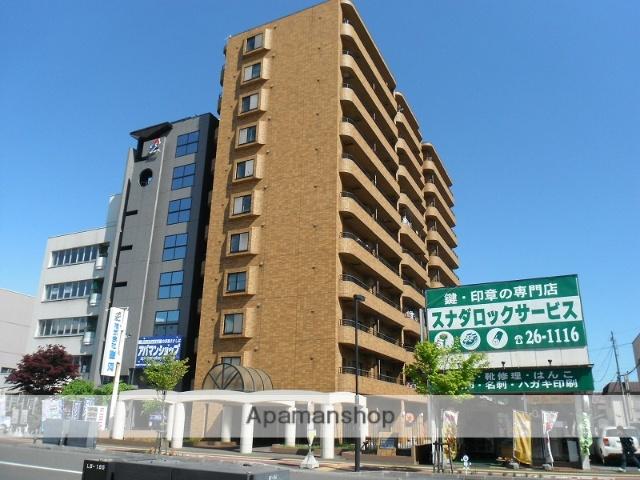 北海道千歳市、千歳駅徒歩3分の築26年 11階建の賃貸マンション