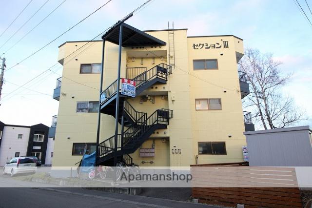 北海道千歳市、千歳駅徒歩10分の築31年 3階建の賃貸アパート