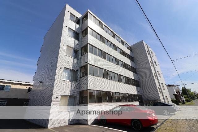 北海道千歳市、千歳駅徒歩10分の築25年 5階建の賃貸マンション