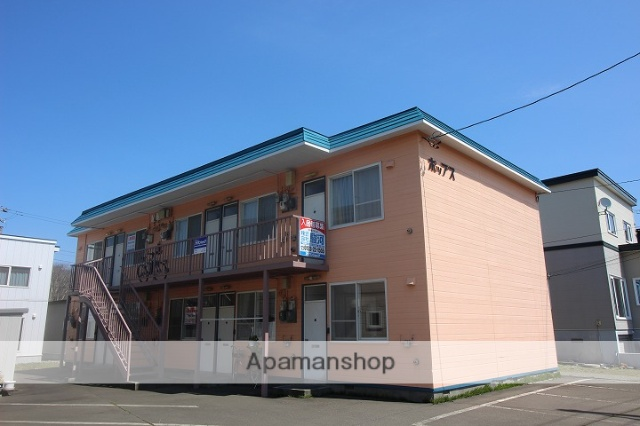 北海道千歳市、千歳駅中央バスバス10分桂木1丁目下車後徒歩2分の築30年 2階建の賃貸アパート