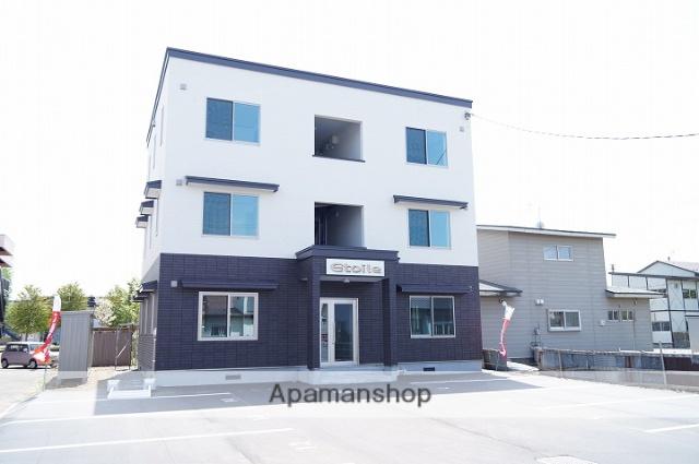 北海道千歳市、千歳駅徒歩19分の築1年 3階建の賃貸アパート