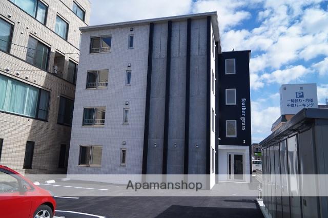 北海道千歳市、千歳駅徒歩7分の築2年 4階建の賃貸マンション