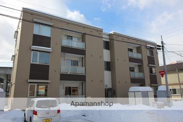 北海道千歳市、千歳駅徒歩6分の築3年 3階建の賃貸アパート