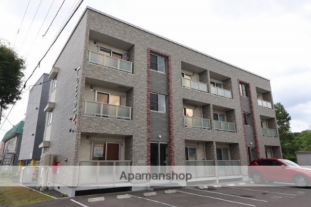 北海道千歳市、千歳駅徒歩18分の新築 3階建の賃貸アパート