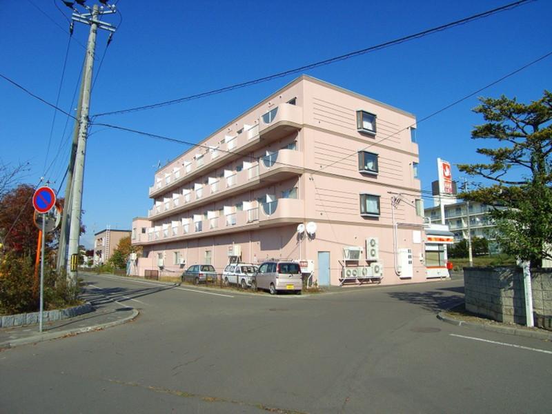 北海道恵庭市の築25年 4階建の賃貸マンション