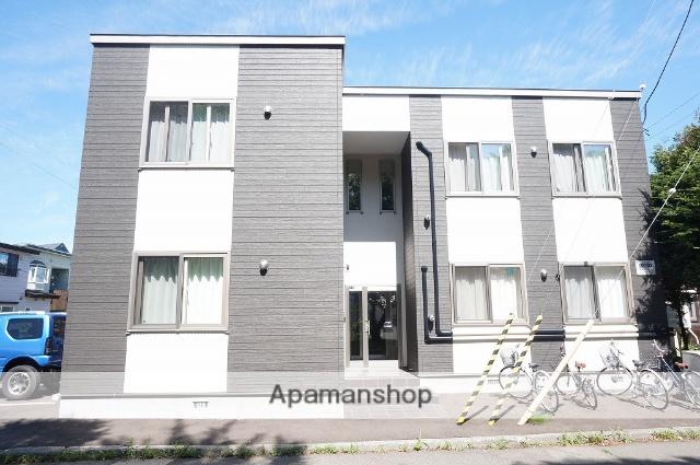 北海道恵庭市、恵庭駅徒歩10分の築3年 2階建の賃貸アパート