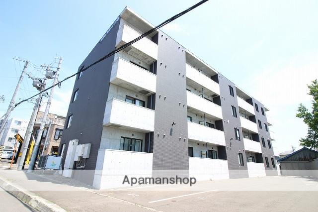 北海道恵庭市、恵庭駅徒歩15分の築7年 4階建の賃貸マンション