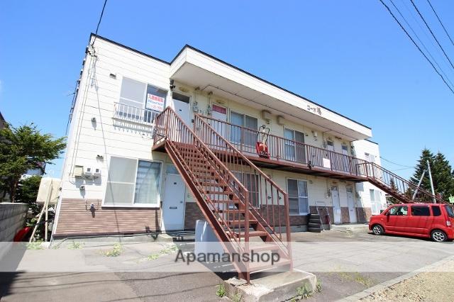 北海道恵庭市、島松駅徒歩10分の築27年 2階建の賃貸アパート