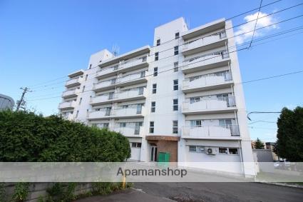 北海道恵庭市、恵み野駅徒歩3分の築26年 6階建の賃貸マンション