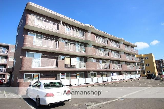 北海道恵庭市、恵み野駅徒歩12分の築22年 4階建の賃貸マンション