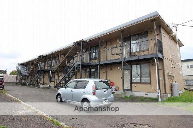 北海道恵庭市、恵庭駅徒歩6分の築25年 2階建の賃貸アパート