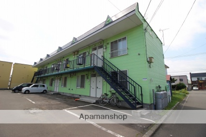 北海道恵庭市、恵庭駅徒歩7分の築24年 2階建の賃貸アパート