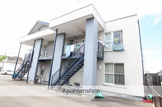 北海道恵庭市、恵庭駅徒歩17分の築19年 2階建の賃貸アパート