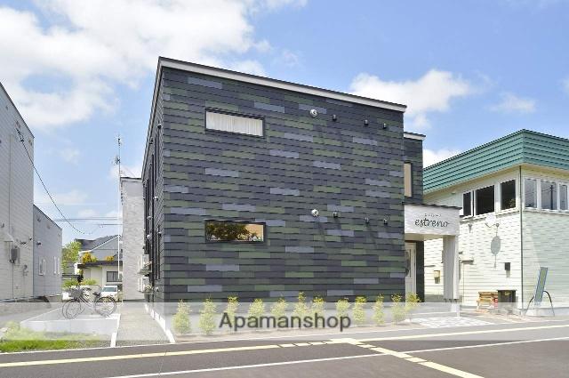 北海道恵庭市、恵み野駅徒歩6分の築2年 2階建の賃貸アパート