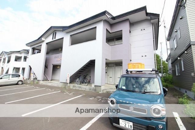 北海道恵庭市、恵庭駅徒歩15分の築22年 2階建の賃貸アパート