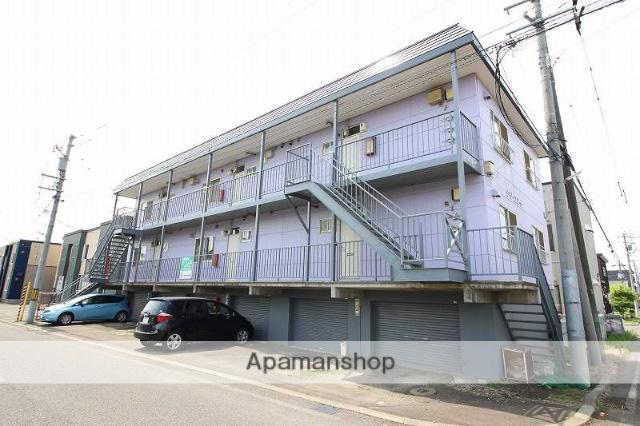 北海道恵庭市、恵庭駅徒歩8分の築25年 2階建の賃貸アパート