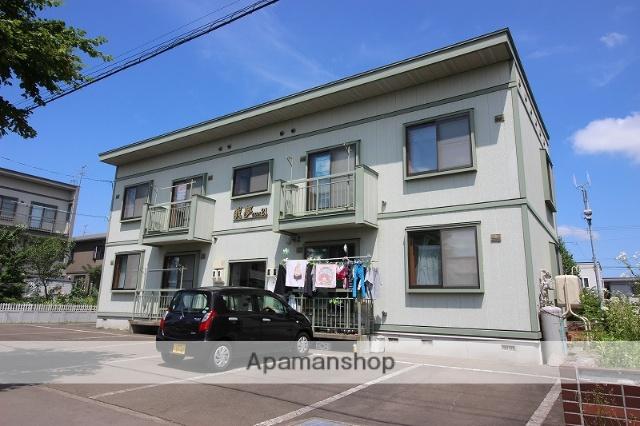 北海道恵庭市の築15年 2階建の賃貸アパート