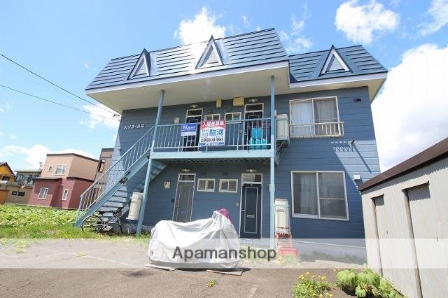 北海道恵庭市、恵み野駅徒歩20分の築25年 2階建の賃貸アパート