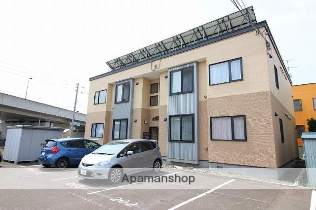 北海道恵庭市、恵庭駅徒歩2分の築11年 2階建の賃貸アパート