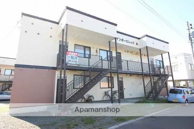 北海道恵庭市、恵庭駅徒歩5分の築19年 2階建の賃貸アパート