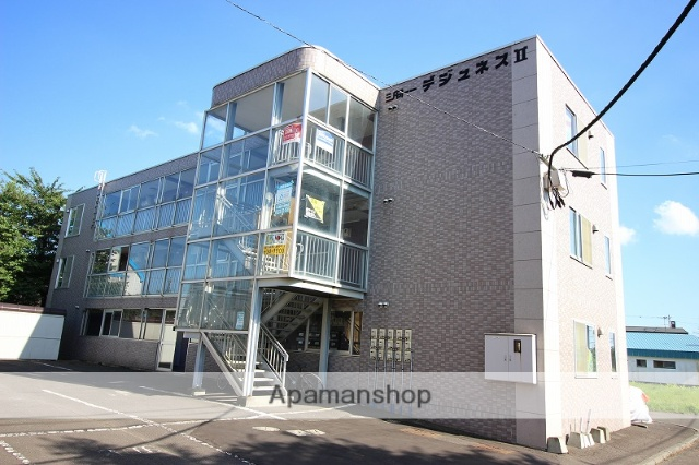 北海道恵庭市、恵み野駅徒歩10分の築24年 3階建の賃貸マンション