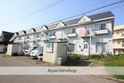 北海道恵庭市、恵庭駅徒歩10分の築27年 2階建の賃貸テラスハウス