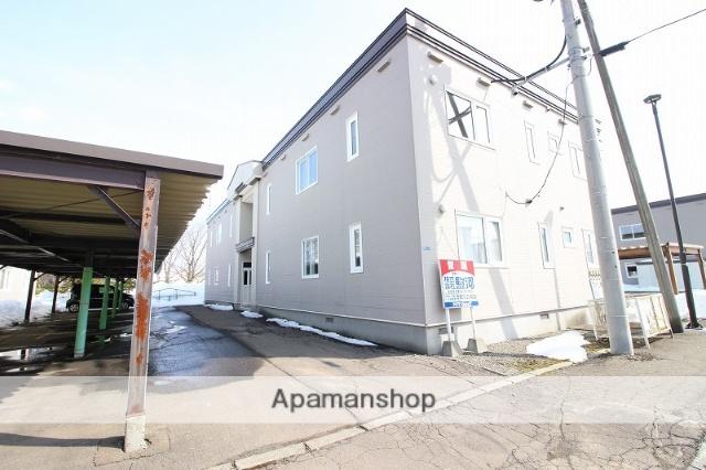 北海道恵庭市、サッポロビール庭園駅徒歩12分の築18年 2階建の賃貸アパート
