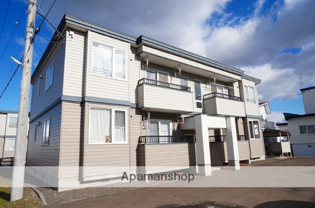 北海道恵庭市、恵庭駅徒歩15分の築15年 2階建の賃貸アパート