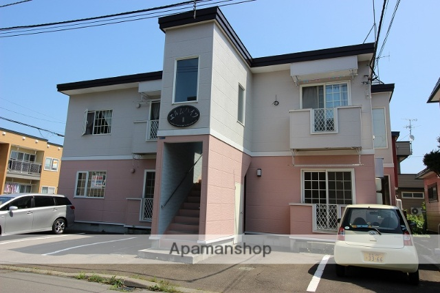 北海道恵庭市の築16年 2階建の賃貸アパート
