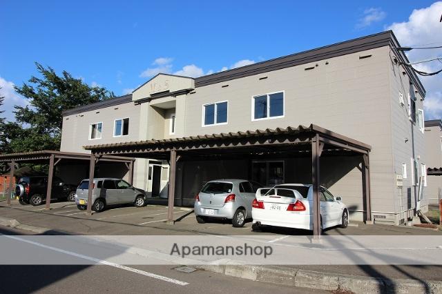 北海道恵庭市、サッポロビール庭園駅徒歩13分の築20年 2階建の賃貸アパート