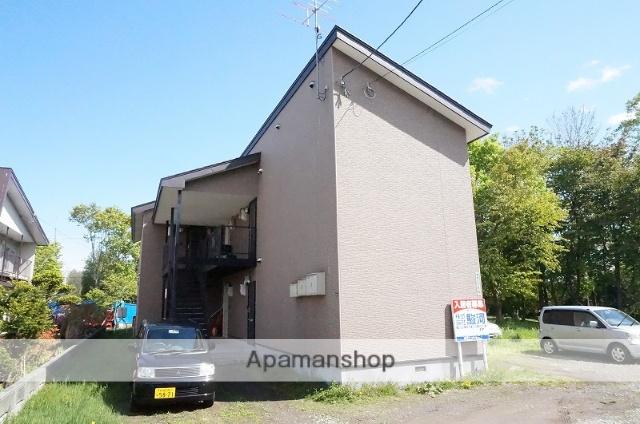 北海道恵庭市の築13年 2階建の賃貸アパート