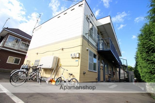 北海道恵庭市、恵み野駅徒歩18分の築26年 2階建の賃貸アパート