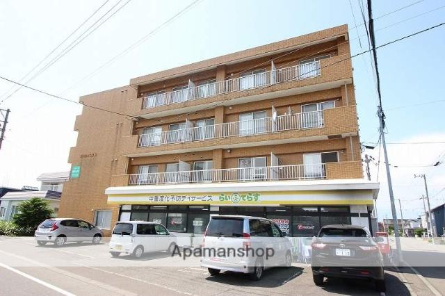 北海道恵庭市、恵庭駅徒歩20分の築17年 4階建の賃貸マンション