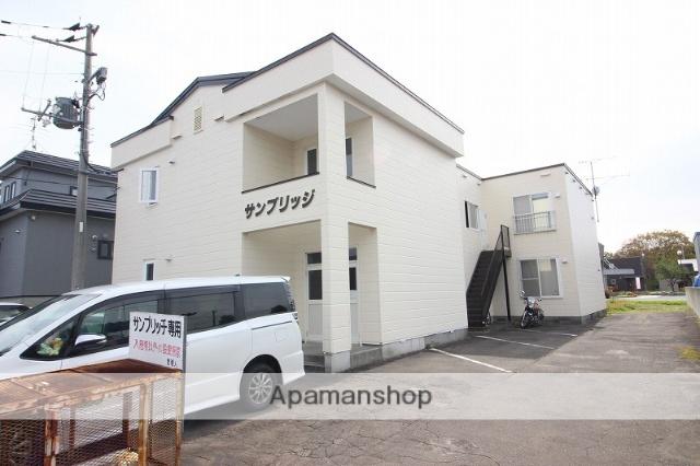 北海道恵庭市、サッポロビール庭園駅徒歩18分の築21年 2階建の賃貸アパート