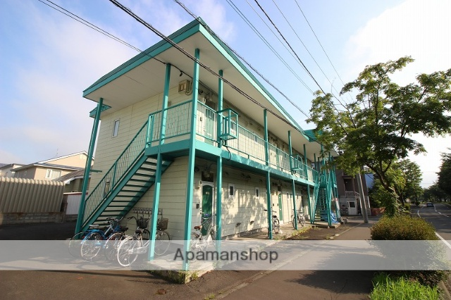 北海道恵庭市、恵庭駅徒歩10分の築25年 2階建の賃貸アパート