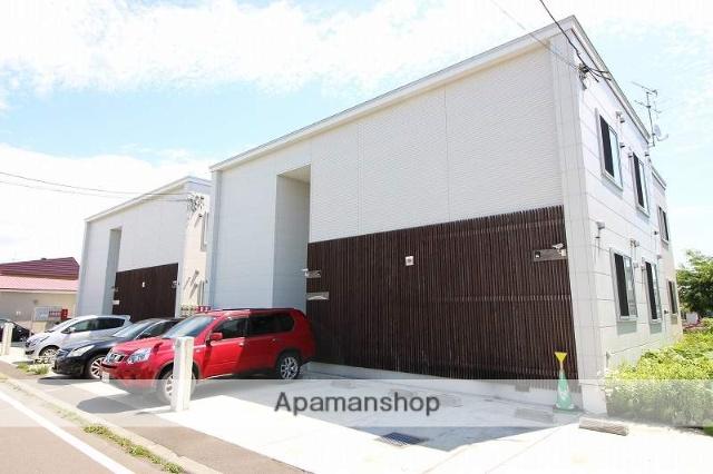 北海道恵庭市、恵庭駅徒歩3分の築5年 2階建の賃貸アパート