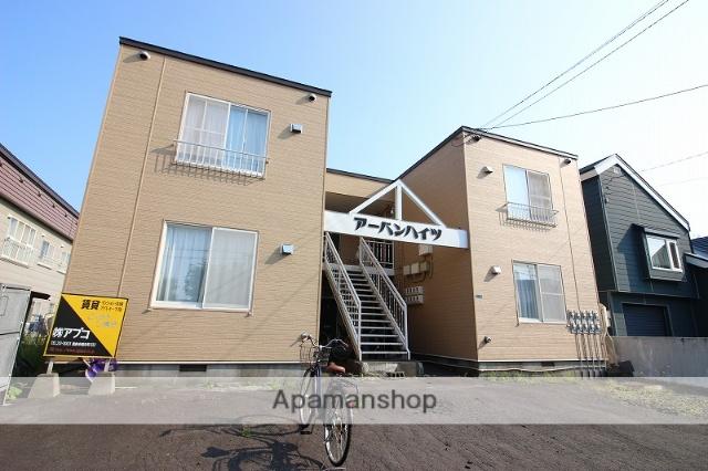北海道恵庭市、恵み野駅徒歩8分の築28年 2階建の賃貸アパート