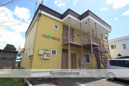 北海道恵庭市、島松駅徒歩2分の築15年 2階建の賃貸アパート