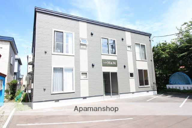 北海道恵庭市の築2年 2階建の賃貸アパート