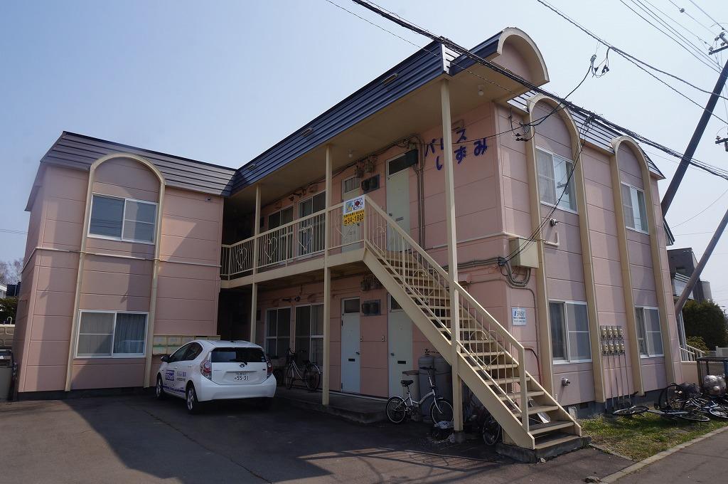北海道恵庭市、恵み野駅徒歩13分の築28年 2階建の賃貸アパート