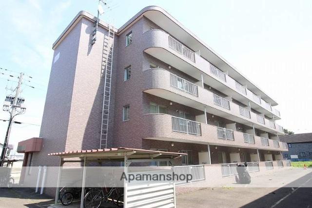 北海道恵庭市、恵み野駅徒歩9分の築19年 4階建の賃貸マンション