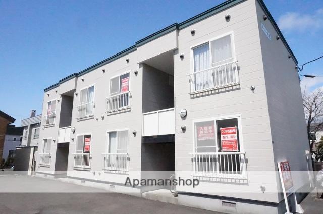 北海道恵庭市、恵み野駅徒歩13分の築18年 2階建の賃貸アパート