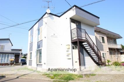 北海道恵庭市、島松駅徒歩2分の築20年 2階建の賃貸アパート