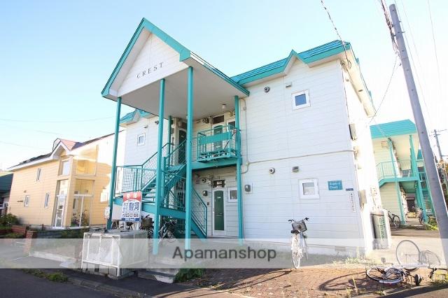 北海道恵庭市、恵庭駅徒歩9分の築27年 2階建の賃貸アパート